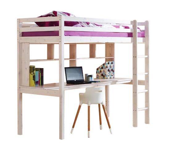 MAXMAX Detská vyvýšená posteľ s písacím stolom KLEOPATRA 190x80 cm + matrac ZADARMO!