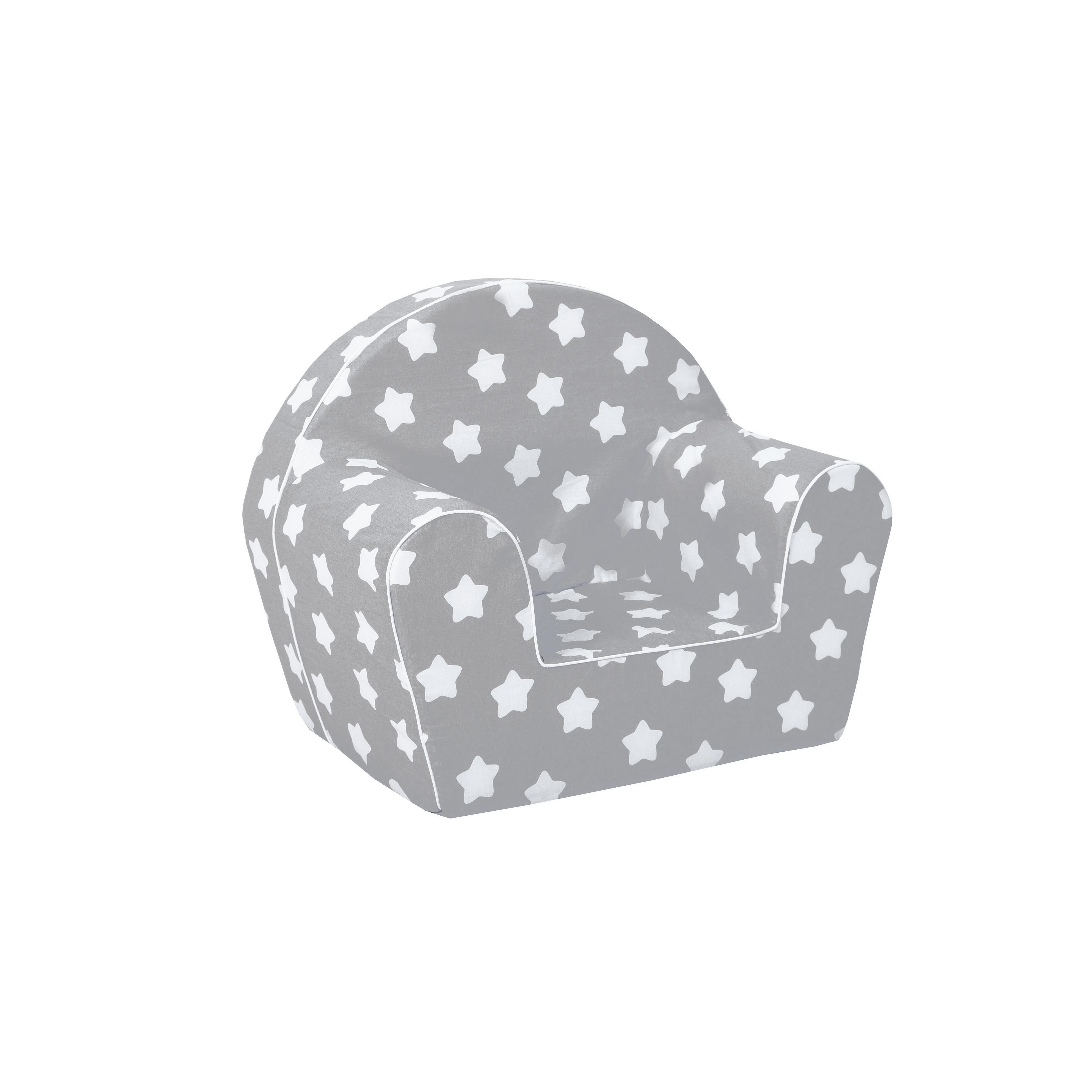 MAXMAX Detské kresielko MINI - hviezdička šedé