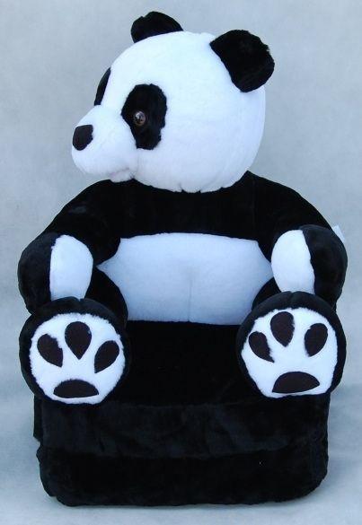 MAXMAX Detské plyšové rozkladacie kresielko PANDA