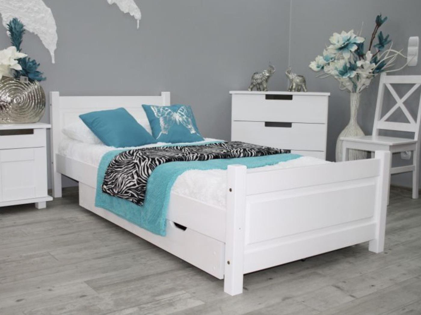 MD Jednolôžková posteľ Etela 90x200 - biela