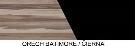 Meblar Závesná vitrína MONSUN MN9 Farba: Orech batimore/čierna