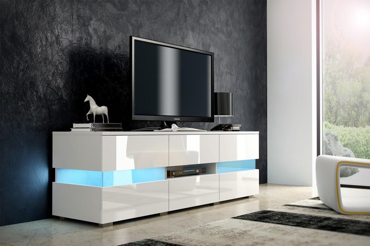 MEBLOCROSS Inter tv stolík biela