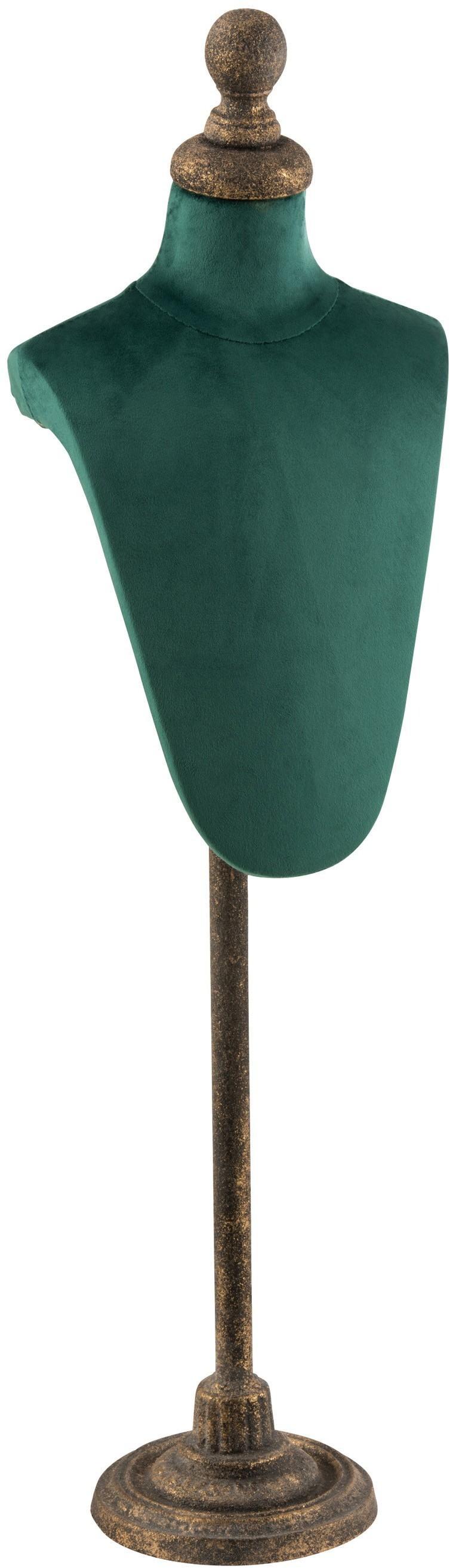 Menšie figuríny so zelenou zamatovú látkou Torso - 26 * 19 * 80 cm