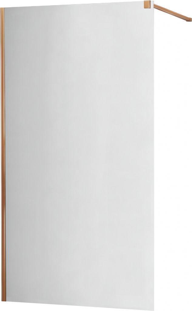 MEXEN/S - KIOTO Sprchová zástena WALK-IN 70x200 cm 8 mm, ružové zlato, zrkadlové sklo 800-070-101-60-50