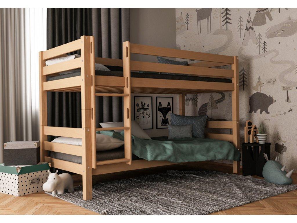 MF Poschodová posteľ Oliver (200X90) Variant úložný box: Bez úložného boxu