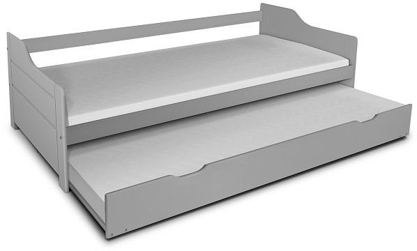 MG Detská posteľ Basty 200x90 s prístelkou Farba: Sivá