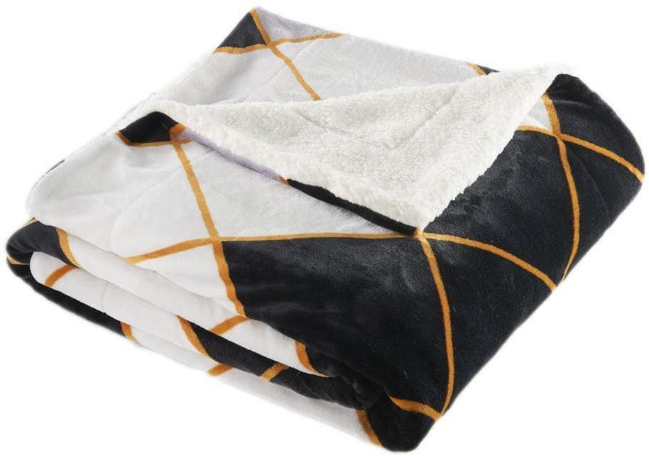 Mikroplyšová deka s baránkom 150x200 cm - Červenošedé káry
