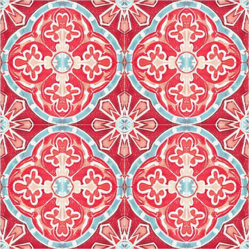 MINDTHEGAP Rufous Tile, červená/ružová/fialová/farebná skupina červená/farebná skupina fialová/farebná skupina ružová