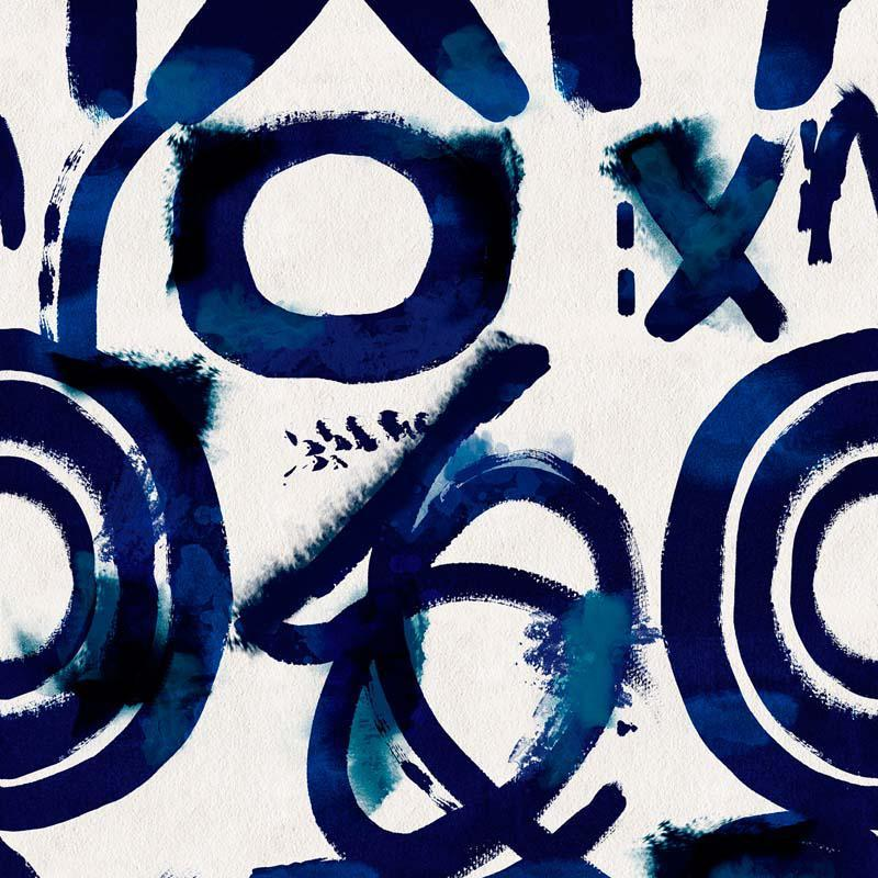 MINDTHEGAP Spontaneus Blue, modrá/biela/farebná skupina modrá/farebná skupina čierna + biela