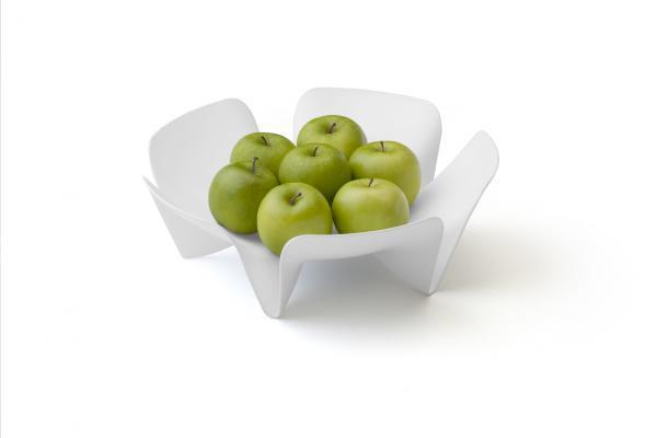 Misa na ovocie Qualy Flower Fruit Tray, malá, biela