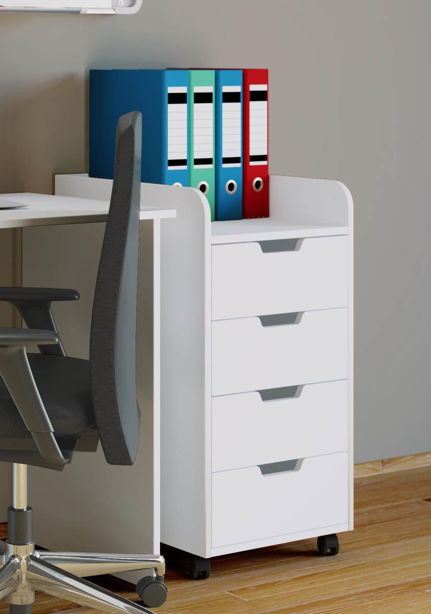 Mobilný zásuvkový kontajner Konal Maxi, biely