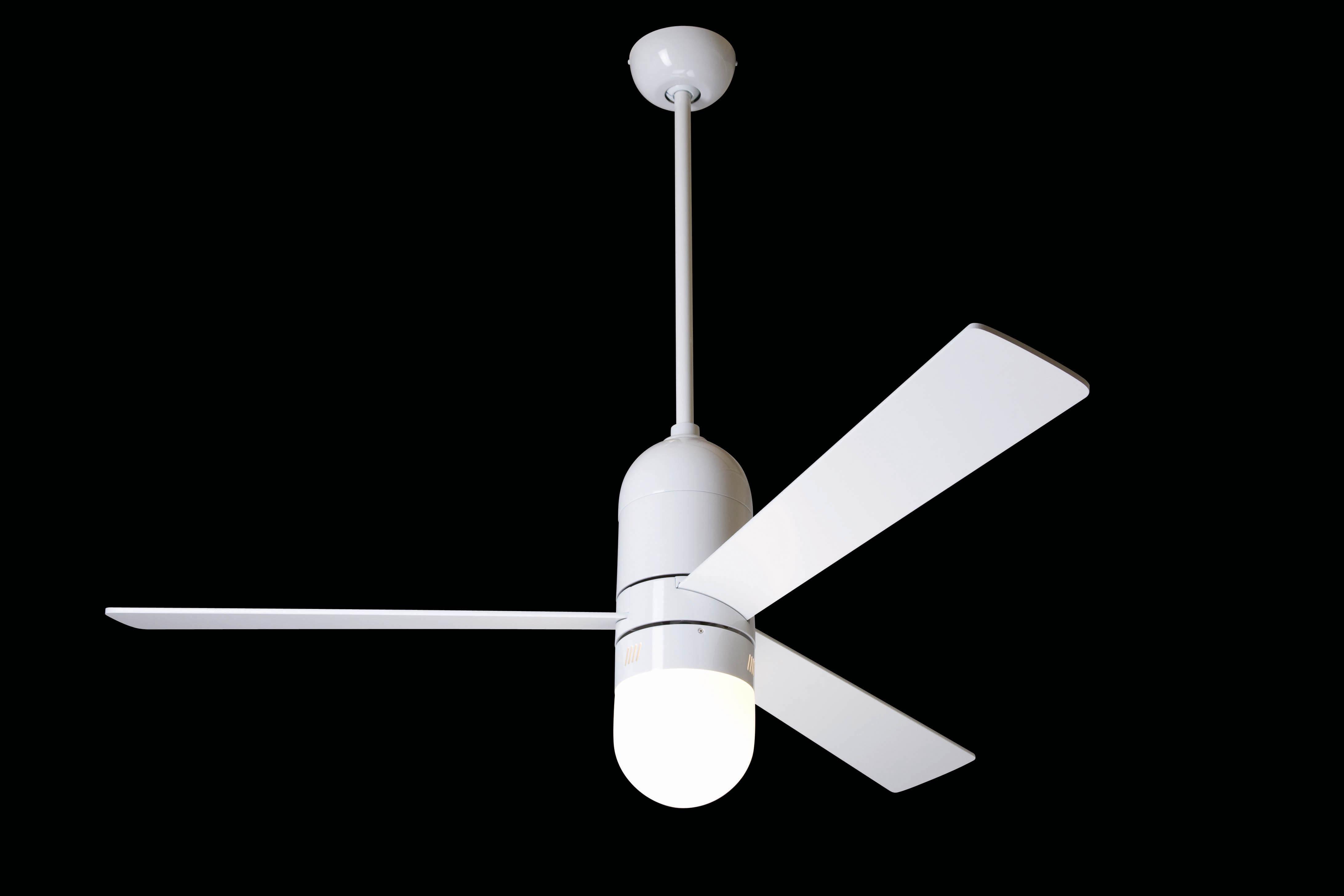 """MODERN FAN EU CIRRUS CIR-GW52AL352 52"""" lesklá biela/hliník Reverzný stropný ventilátor"""