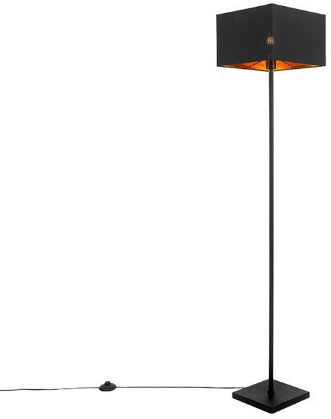 Moderná stojaca lampa čierna so zlatom - VT 1