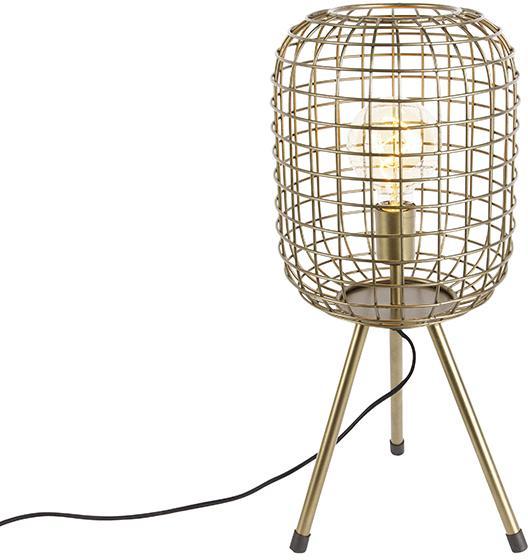 Moderná stolná lampa statív mosadz - Barir
