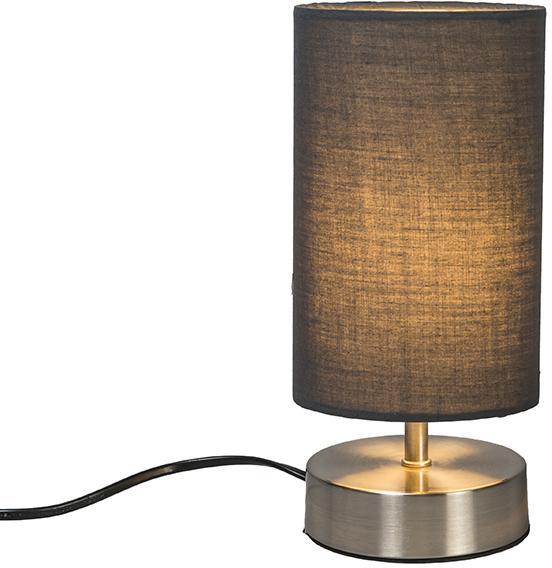 Moderná stolová lampa šedá s oceľou - Milo 2