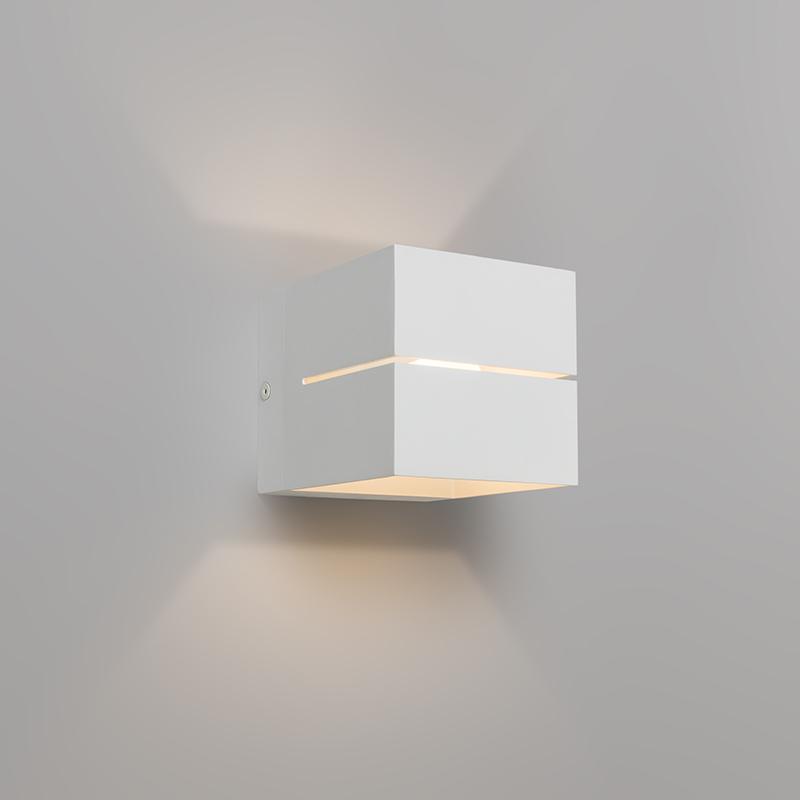 Moderné nástenné svietidlo biele - Transfer 2