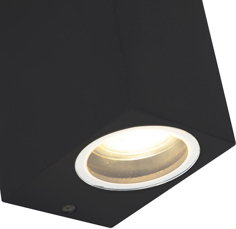 Moderné nástenné svietidlo čierne IP44 - Baleno II
