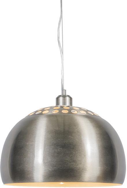 Moderný kruhový prívesok lampa oceľ - Globe
