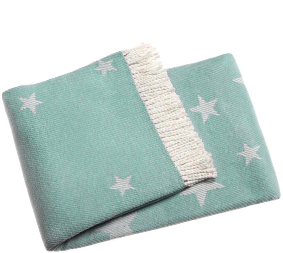 Modrá deka s podielom bavlny Euromant Stars, 140 x 160 cm