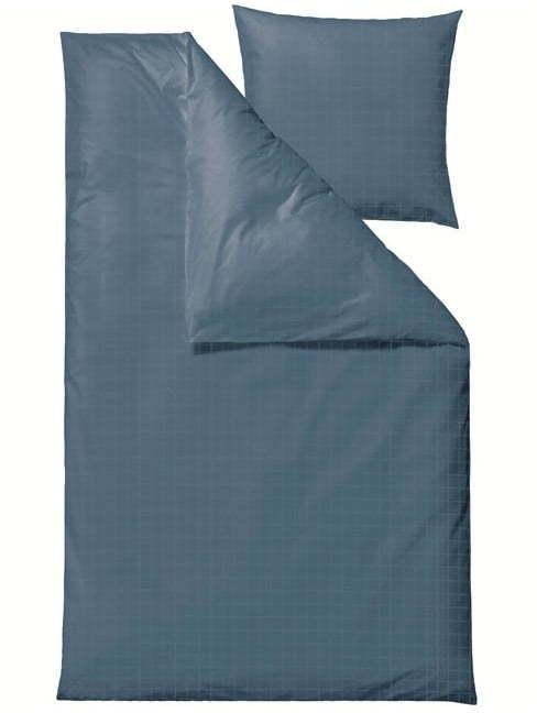 Modré damaškové obliečky na jednolôžko Södahl Clear, 140 x 220 cm
