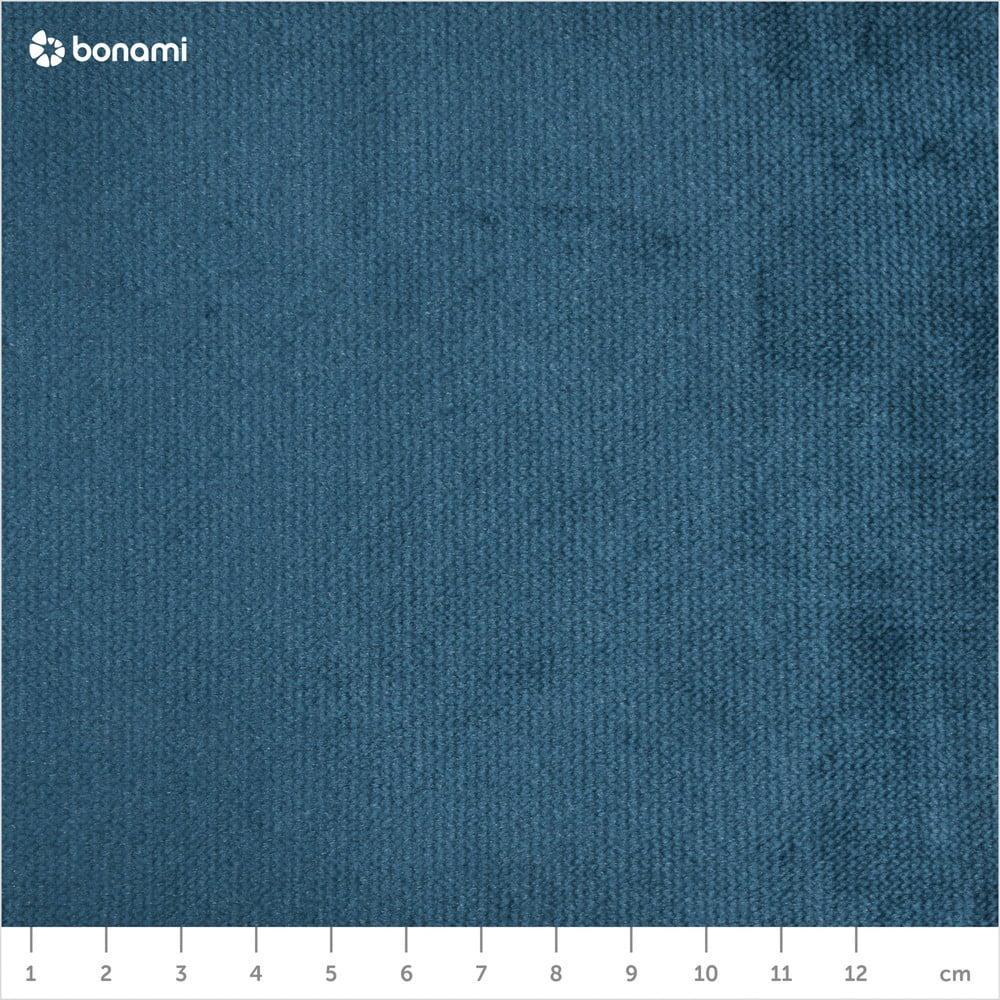 Modré zamatové kreslo s čiernymi nohami Max Winzer Alegro
