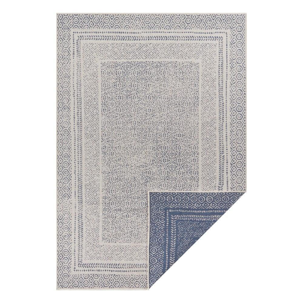 Modro-biely vonkajší koberec Ragami Berlin, 160 x 230 cm