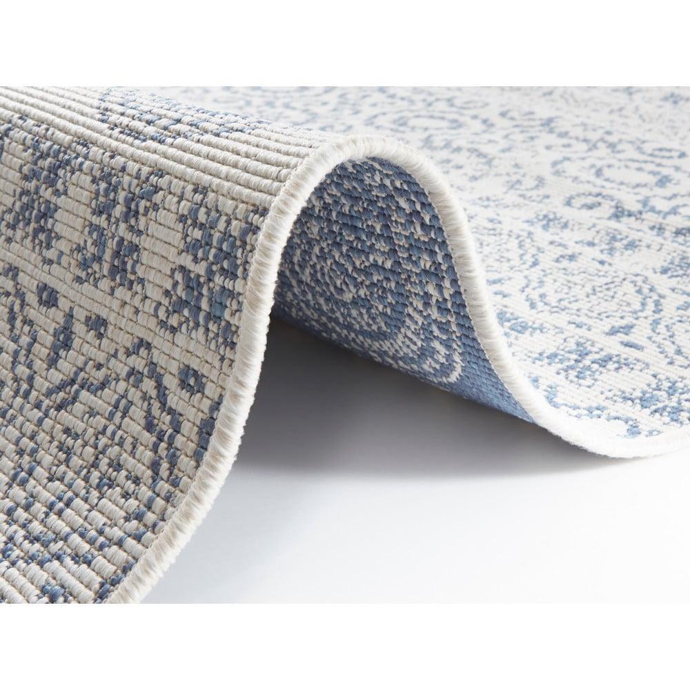 Modro-biely vonkajší koberec Ragami Circle, 200 x 290 cm