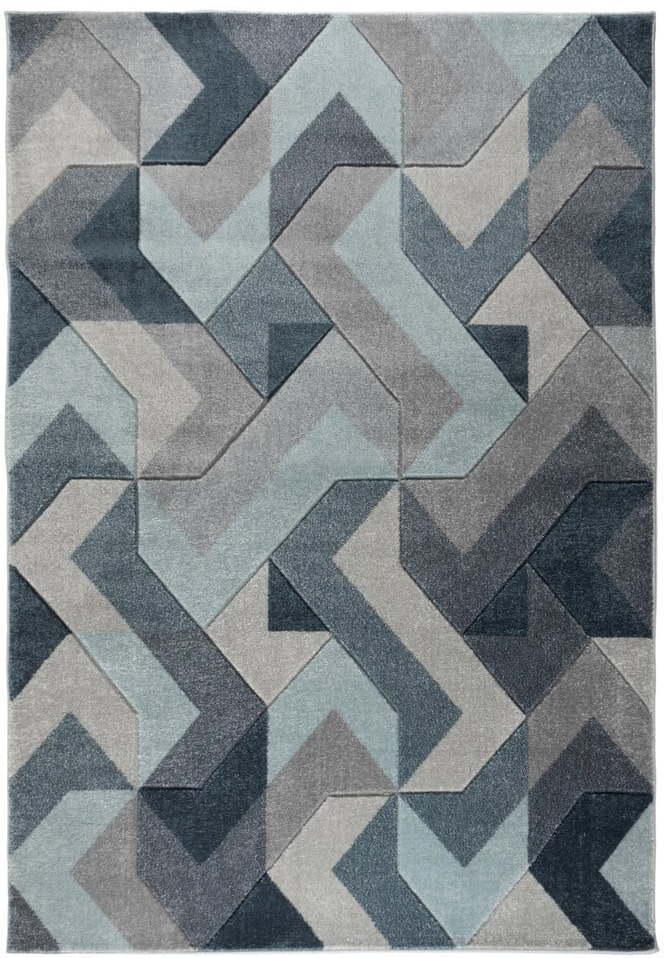 Modro-sivý koberec Flair Rugs Aurora, 120 x 170 cm