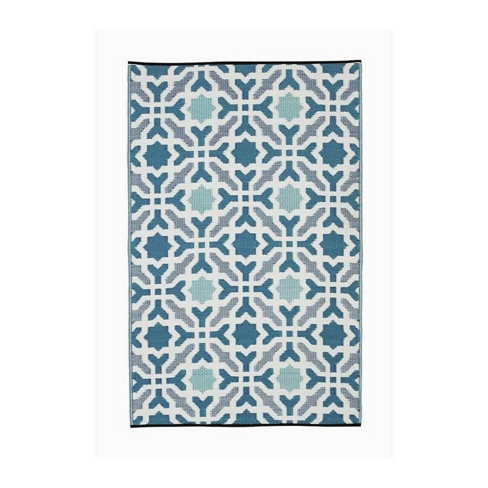 Modro-sivý obojstranný vonkajší koberec z recyklovaného plastu Fab Hab Seville, 120 x 180 cm