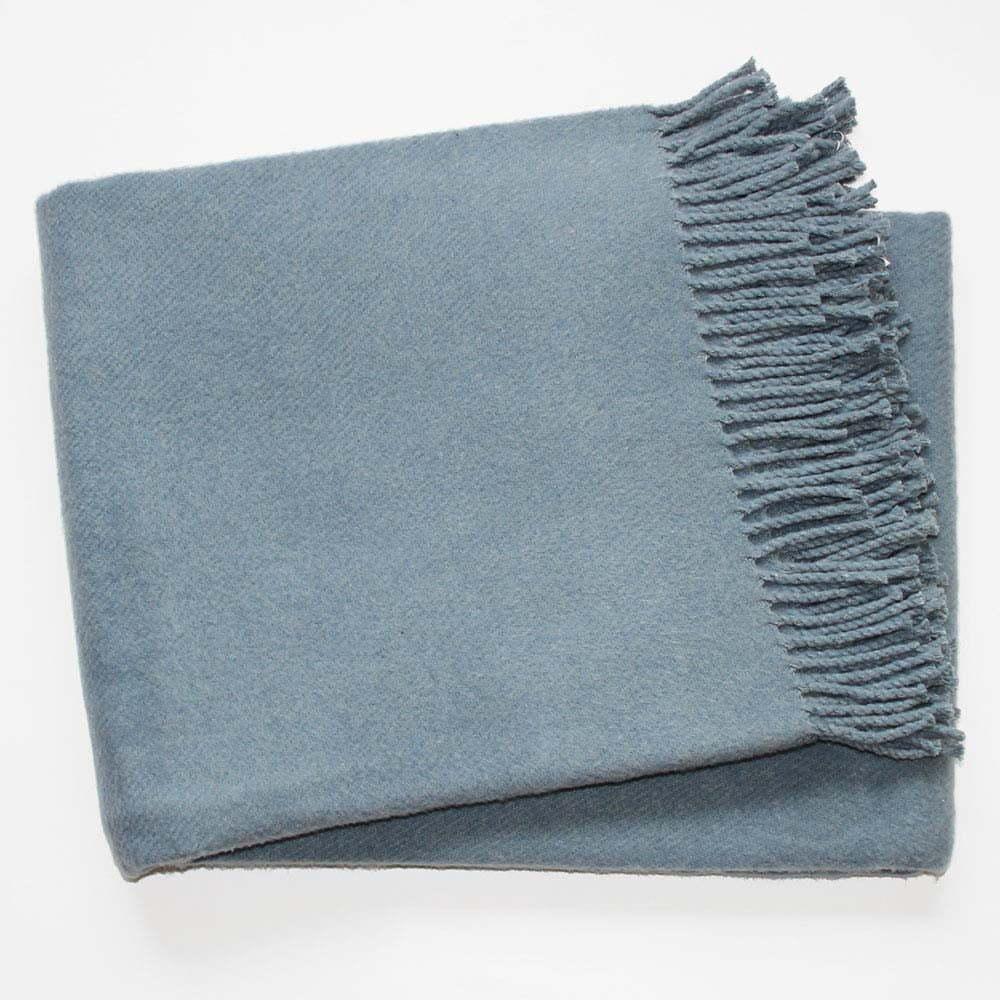 Modrosivá deka s podielom bavlny Euromant Basics, 140 x 180 cm