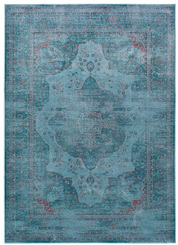 Modrý koberec z viskózy Universal Lara Aqua, 120 x 170 cm