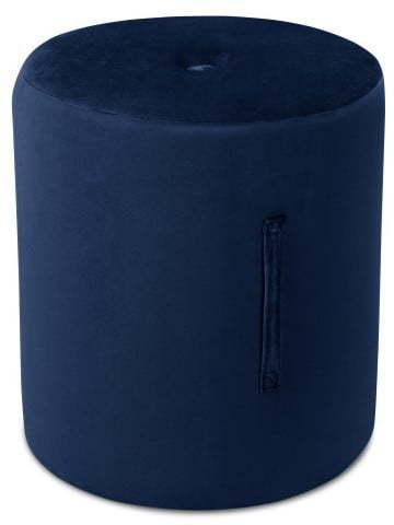 Modrý puf Mazzini Sofas Fiore, ⌀ 40 cm