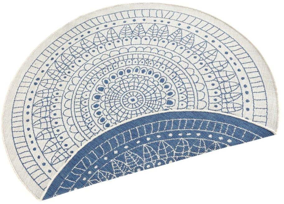 Modrý vonkajší koberec Bougari Porto, ø 140 cm