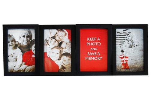 Multirám na 4 fotky, čierny, 4x10x15cm