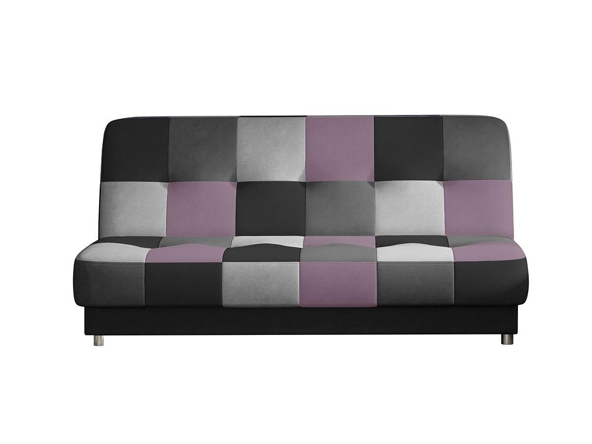 NABBI Cosa rozkladacia pohovka s úložným priestorom čierna / sivá / svetlosivá / fialová