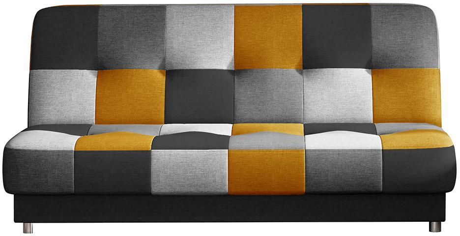 NABBI Cosa rozkladacia pohovka s úložným priestorom čierna / sivá / svetlosivá / žltá