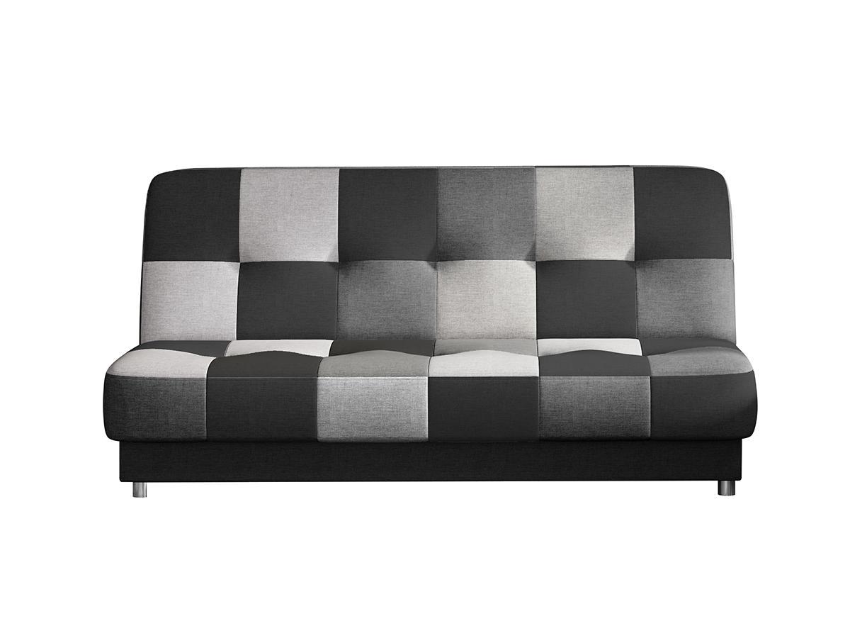 NABBI Cosa rozkladacia pohovka s úložným priestorom čierna / sivá / svetlosivá