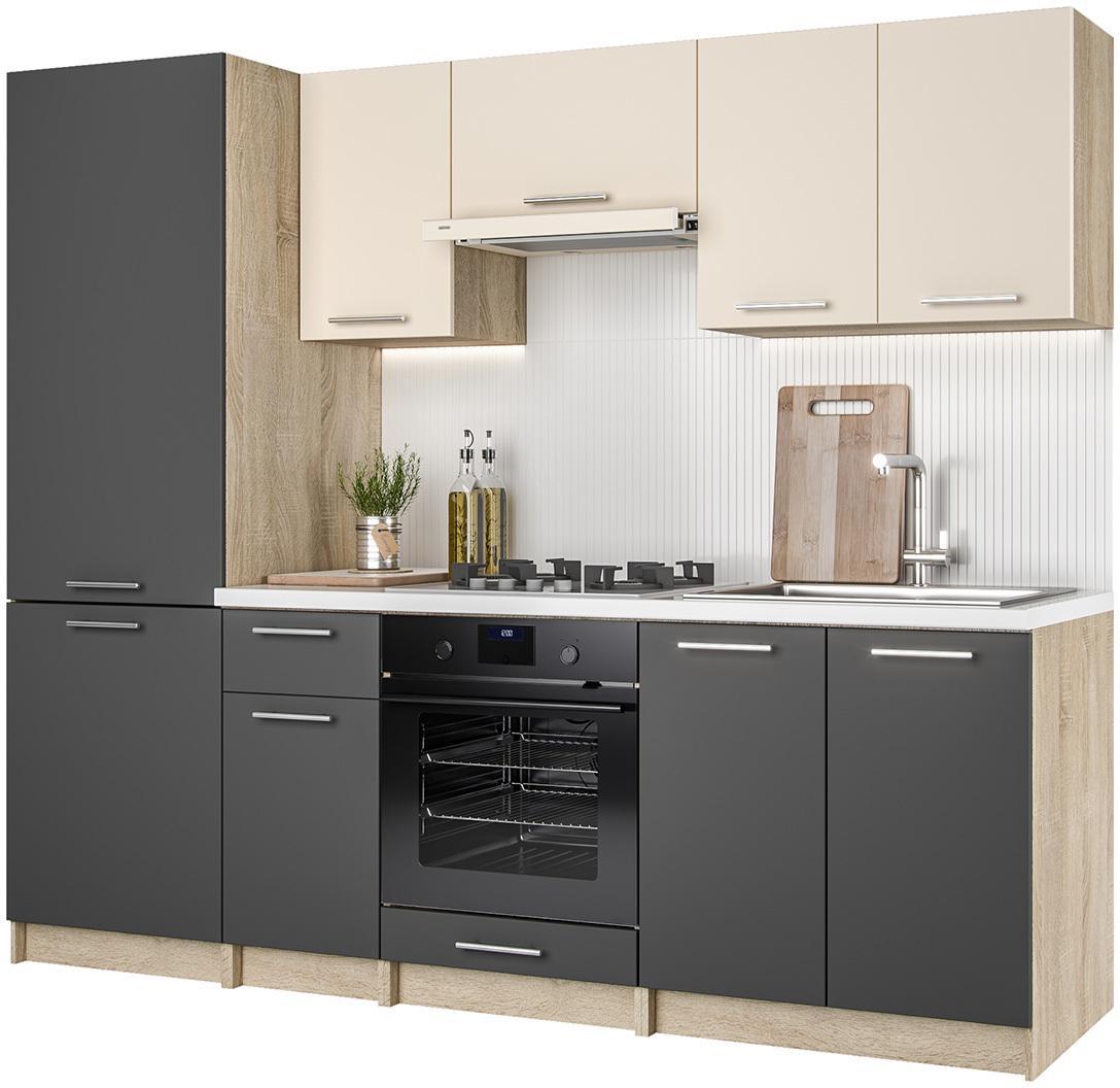 NABBI Hafling 240 kuchyňa dub sonoma / antracit / vanilka