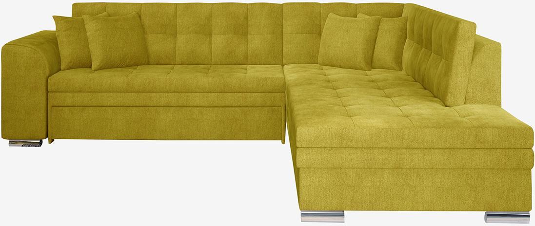 NABBI Pescara P rohová sedačka s rozkladom žltá