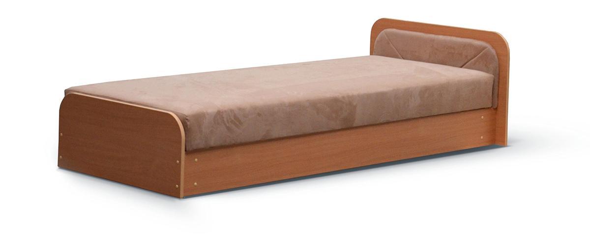 NABBI Pinerolo 80 P jednolôžková posteľ (váľanda) s úložným priestorom hnedá