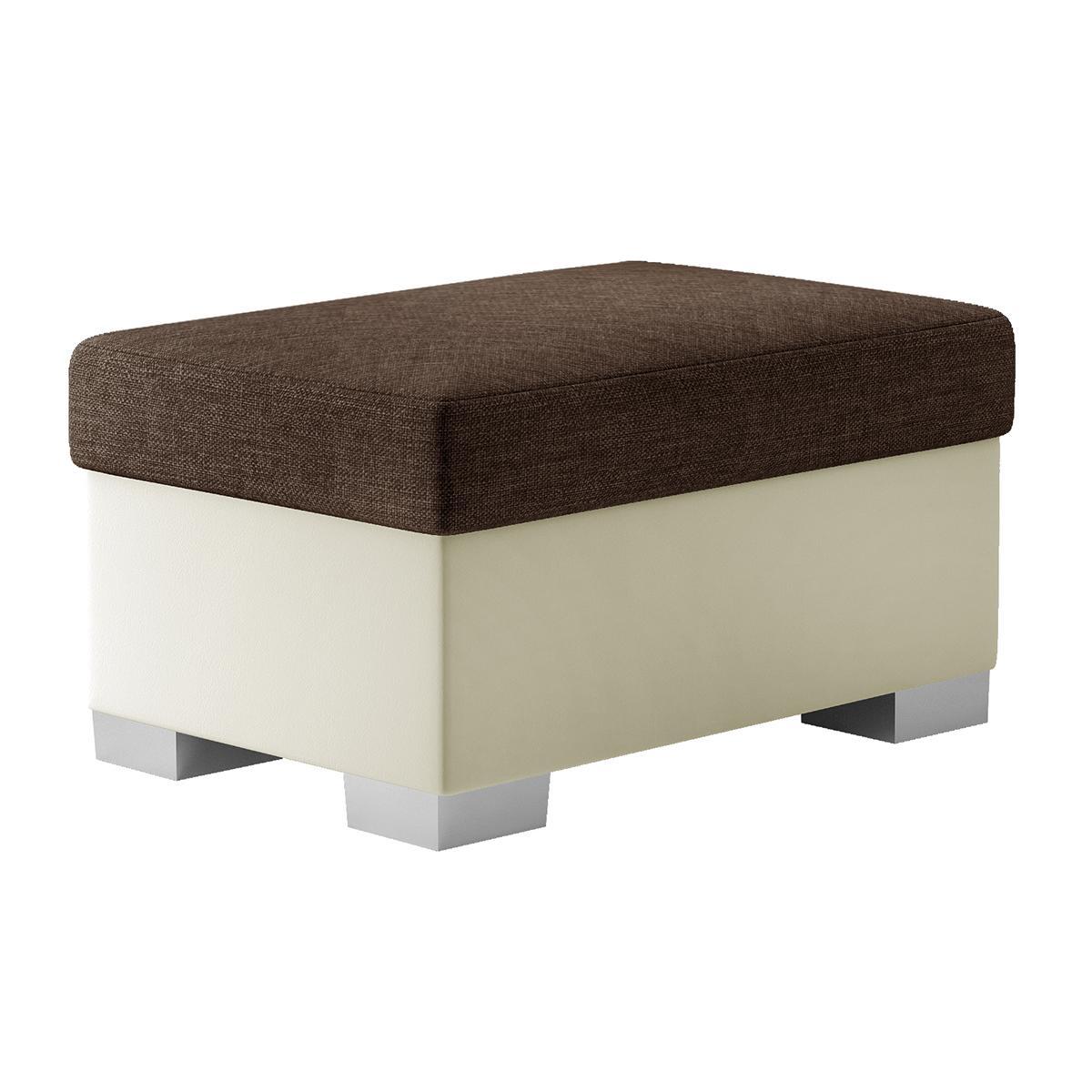 NABBI T4 taburetka hnedá / béžová