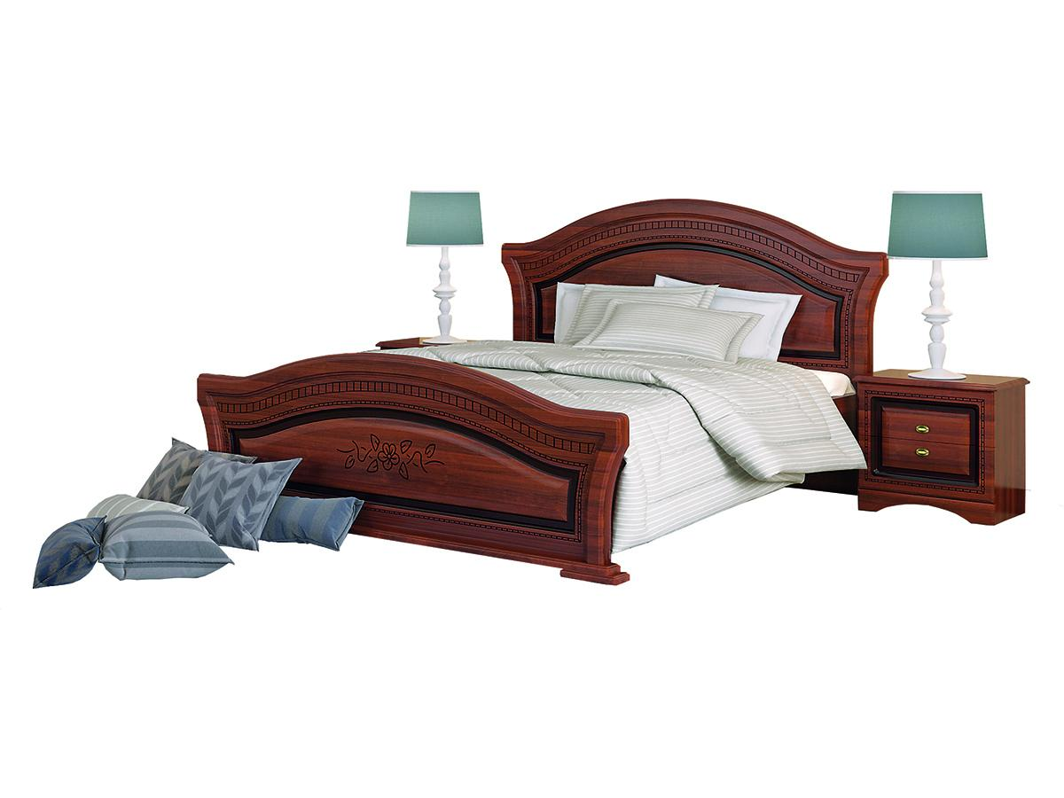NABBI Valenta 1600 rustikálna manželská posteľ s roštom orech / orech antický
