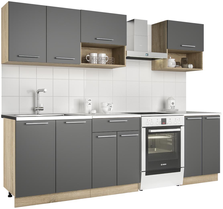 NABBI Venosa 200 kuchyňa dub sonoma / antracit