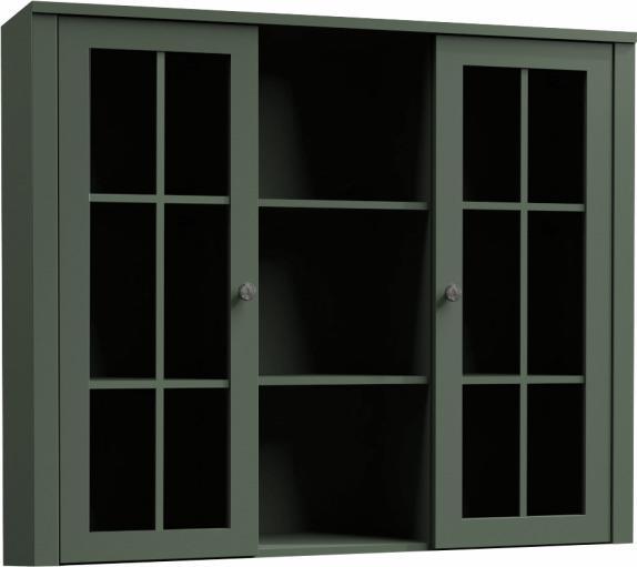 Nadstavec na komodu s vitrínou PROVANCE W2D Tempo Kondela Zelená