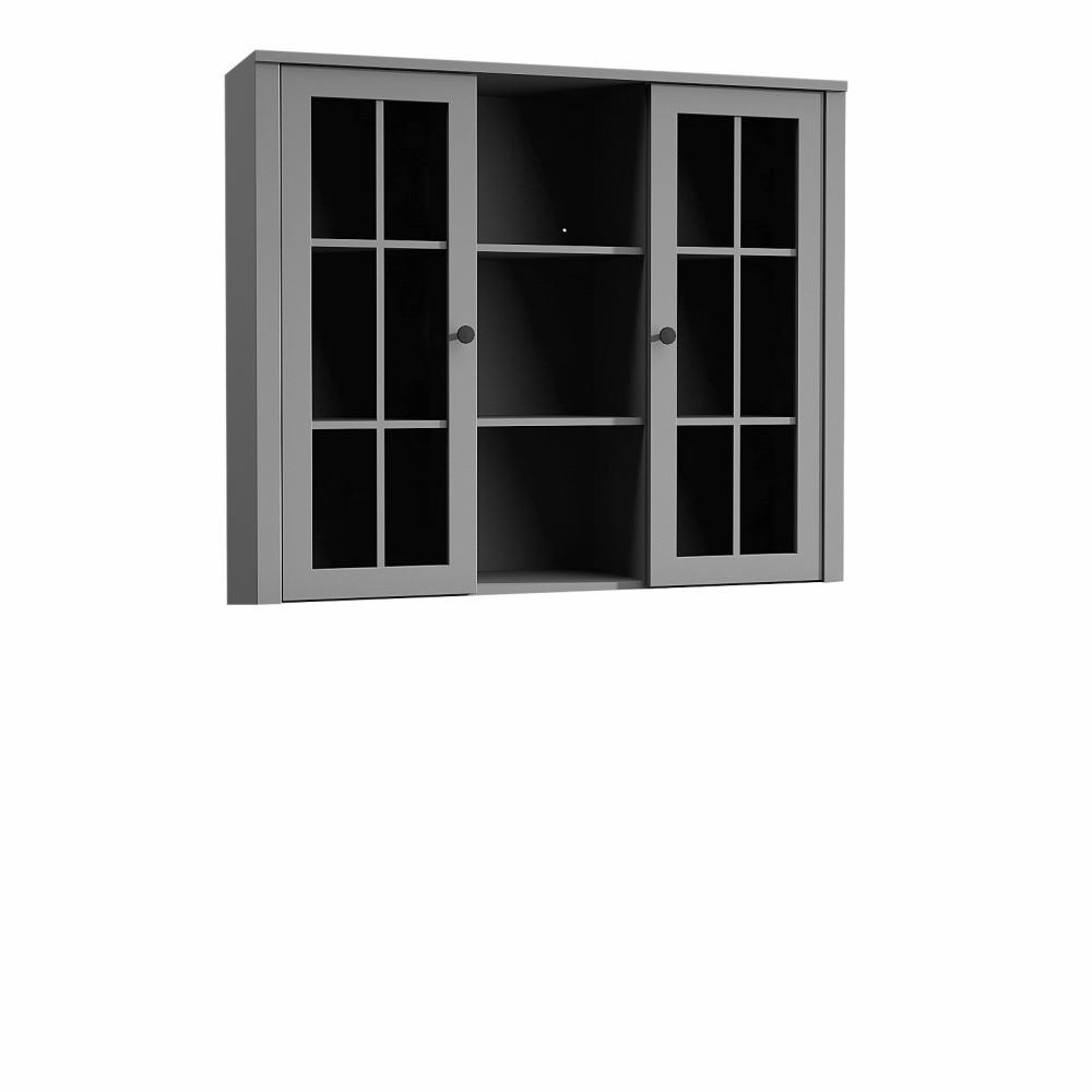 Nadstavec na komodu W2D, vitrína, sivá, PROVANCE