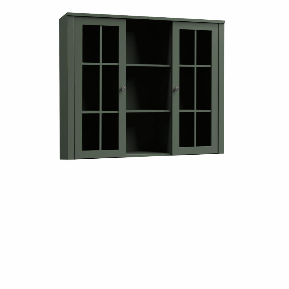 Nadstavec na komodu W2D, vitrína, zelená, PROVANCE