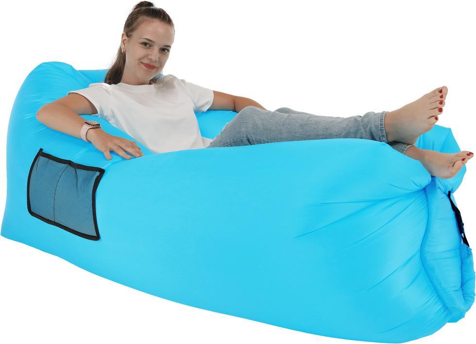Nafukovací sedací vak LEBAG Tempo Kondela Modrá