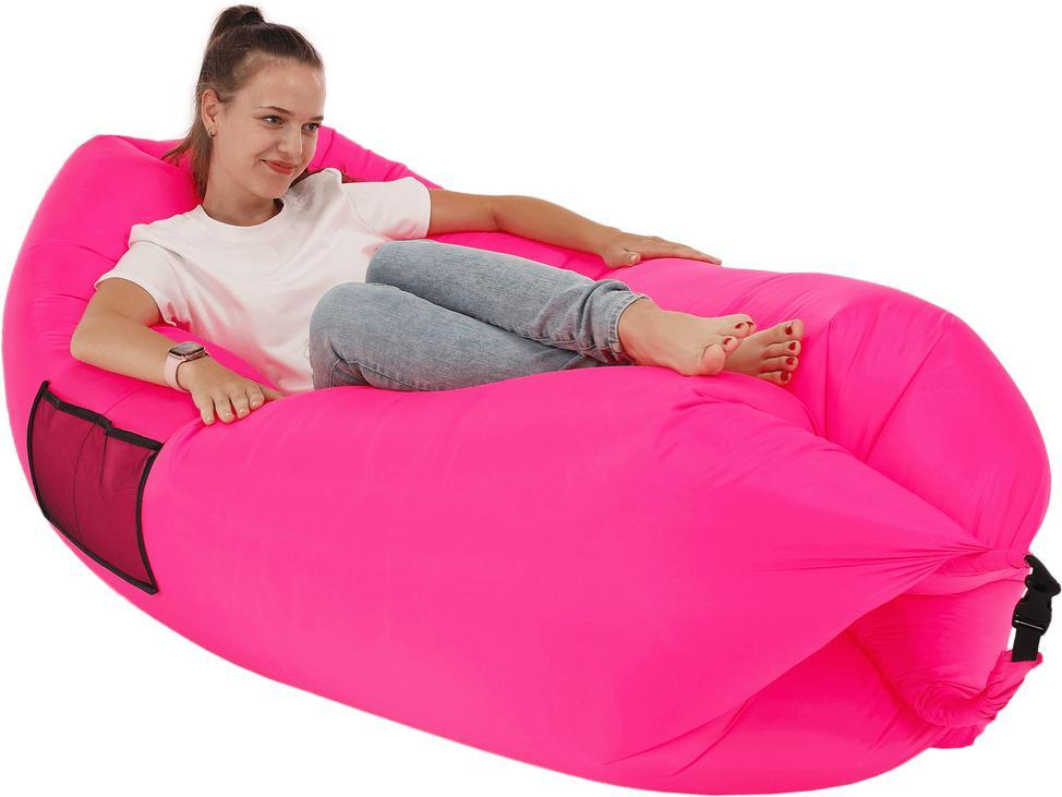Nafukovací sedací vak LEBAG Tempo Kondela Ružová