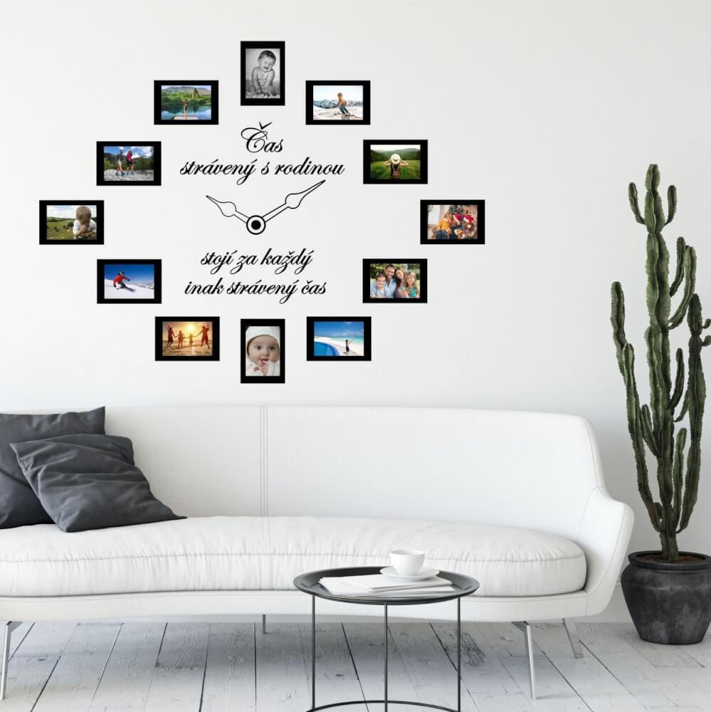 Nálepka na stenu - Čas stráveny s rodinou