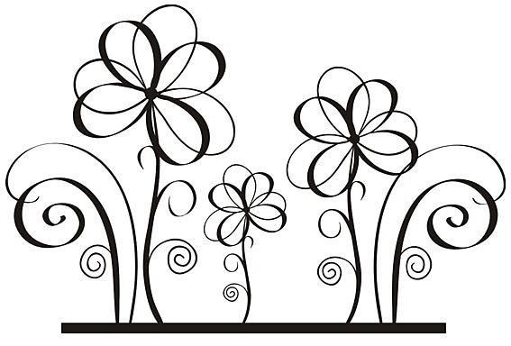 Nálepka na stenu Flower _fl5-150